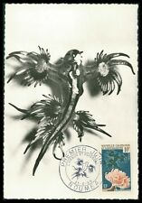 NOVELLE CALEDONIE MK 1959 AQUARIUM GLAUCUS ANEMONE CARTE MAXIMUM CARD MC CM ay56
