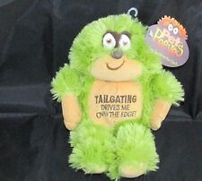"2005 PET PEEVES 9"" PLUSH Tailgating Drives Me Over The Edge! green ape monster"