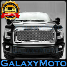 15-16 Ford F150 Chrome Rivet Studded+Mesh Grille Grill+Complete Grill+Shell 2017