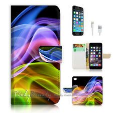 """iPhone 6 (4.7"""") Print Flip Wallet Case Cover! Abstract Smoke P0519"""