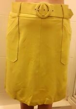 NEW M&Co Belted Skirt, Lime Green - 14