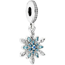 Original PANDORA Charm Element 791761 NBLMX Snowflake Dangle Silber Bead