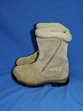 Sorel Size 7 Water Fall Boots Brown Suede Side Zip Lined Insulated Winter Snow