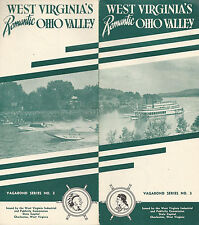 West Virginia Ohio Valley Vintage Travel Brochure Photos Points of Interest Map