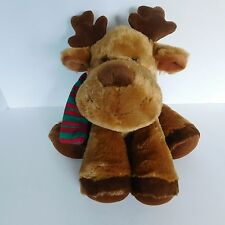 Russ Balsam Reindeer Plush Moose Stuffed Animal 33635 Red & Green Scarf Soft 15""