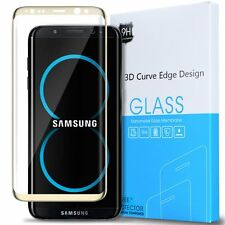 Samsung Galaxy S8 Plus Exact 3d curve edge Tempered Glass Screen Protector Gold