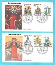 VATICANO-1988:2 BUSTE F.D.C. THE GOLDEN SERIES ANNO MARIANO-IN OTTIME CONDIZIONI