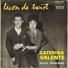 """CATERINA VALENTE """"LECON DE TWIST"""" 60'S EP DECCA 460.752"""