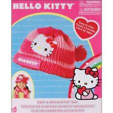 Rare Sanrio Knit a Hello Kitty Yarn Hat Cap Handmade Craft Kit Girls New in Box