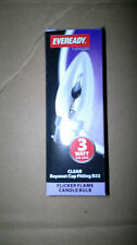 6 x Eveready Flicker Flame Candle Bulbs (You Know It Makes Sense) large bayonet