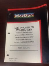 MacDon Self-Propelled Windrower Parts Catalog