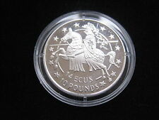 "MDS GIBRALTAR 14 ECUS 10 POUNDS 1991 PP / PROOF ""ELIZABETH II."""