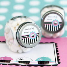 24 Cupcake Theme Baby Shower Birthday Party Personalized Candy Jars Favors Lot
