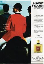 Publicité Advertising 1989 Parfum Habit Rouge de Guerlain