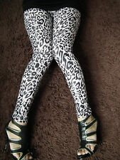 Sexy Black White Leopard Leggings A010
