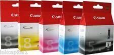 5 x Canon Original Pixma (PGI-5PK & CLI-8) Inkjet Cartridges For MP800R, MP 800R