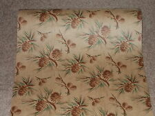 VTG CHRISTMAS PINECONE WINTER PRETTY OLD STORE WRAPPING PAPER GIFT WRAP 2 YARDS