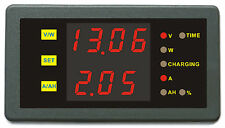 DC 120V 100A Volt Current Ah Power Combo Meter Charge Discharge Battery Monitor