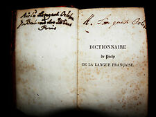 dictionnaire de poche de la langue francaise, 1827, miniature french dictionary.