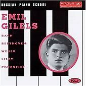 EMIL GILELS Russian Piano School Volume 7 CD (1995) Beethoven Weber Prokofiev
