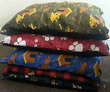 "5 X LARGE DOG BED CUSHION WITH ZIP 39"" x 29"" DIFFERENT PATTERNS  WHOLESALE OFFER"