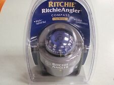 COMPASS RITCHIE ANGLER 128 RA91 BRACKET MOUNT MARINE BOAT LIGHTED 3 YEAR WARR.