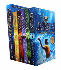 Percy Jackson Rick Riordan 6 Books Collection Pack Set Inc latest Greek Heroes