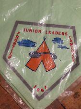 Vintage BSA 1964 Junior Leaders Frontier Camporee Boy Scout Neckerchief  NEW !!!