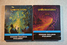 Ghostbusters 1 + 2 Steelbook Bluray Italian Edition New and Sealed *REGION FREE*