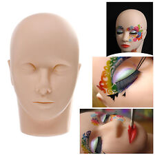 New Practice Flat Mannequin Training Head for Eyelash Extensions Makeup& Massage