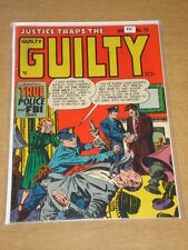 JUSTICE TRAPS THE GUILTY #29 FN (6.0) PRIZE COMICS AUGUST 1951