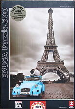 Educa EIFFEL TOWER 500 pc Colored B&W Jigsaw Puzzle