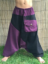 Unisex Boho Festival Hippy Hippie Yoga Baggy Harem Pants Trousers Drop crotch