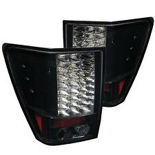 Pair Black LED Tail Lights Lamps Jeep Grand Cherokee 2005-2006 1 Year Warranty