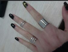 The Master's Sun Heroine Golden Silvery Top of Finger Midi Tip knuckle open Ring