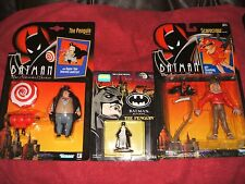 KENNER BATMAN ANIMATED PENGUIN & SCARECROW + PENGUIN DIE CAST FACTORY SEALED NEW