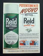 F390 - Advertising Pubblicità - 1963 - REID NUOVO INSETTICIDA SPRAY