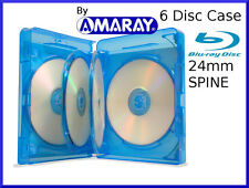 24mm AMARAY 6 Way Blu-Ray Case [Holds 4,5 or 6 Discs]