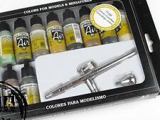 VALLEJO VAL71168 Set Modellini Aerei - Ultra Aerografo + 10 Mimetico Colori