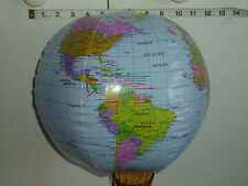 "10 x 33"" (84cm) INFLATABLE GLOBES - WORLD EARTH MAP ATLAS.-Party bag filler"
