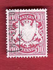 BAYERN ALTDEUTSCHLAND (880) MI NR 56B GESTEMPELT  20 PFENNIG 1888-1900