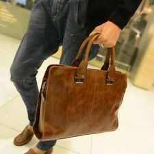 "Vintage Men's Leather Shoulder Messenger Bag Briefcase Handbag 13"" Laptop Bags"