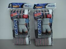 NWT Men's 8 Gildan Premium Cotton Boxer Briefs Underwear Multi Size Small #442J