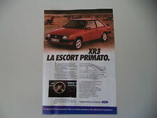 advertising Pubblicità 1980 FORD ESCORT XR3