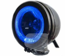 "6"" car chrome spot lamp lights angel eye halogen BLUE 12v spotlights fog 4X4 van"