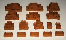 OO  HO  16 x  boxes painted ochre brown