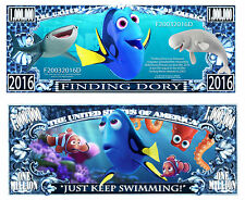 Finding Dory Million Dollar Bill Collectible Funny Money Novelty Note