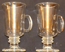SET 2 IRISH COFFEE GLASSES WITH CENTER HOLDING HANDLES RIGHT PRICE