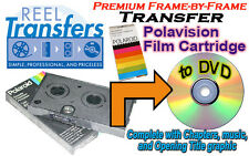 Transfer Polaroid Polavision film cartridges to DVD (premium frame-by-frame)