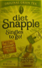7 Boxes (42 packets) DIET SNAPPLE GREEN TEA To Go Sticks